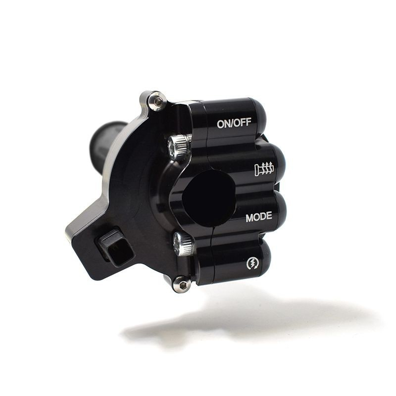 Throttle twist grip with integrated controls for BMW RR