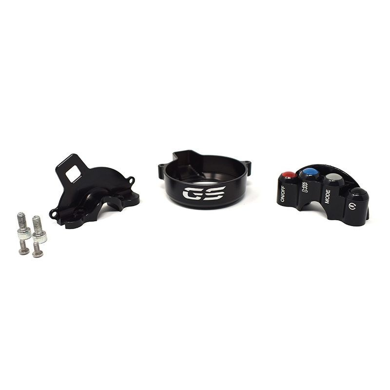 Throttle twist grip with integrated controls for BMW GS
