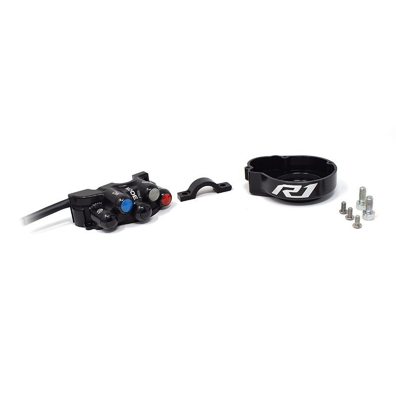 Throttle twist grip with integrated controls for Yamaha YZF-R1