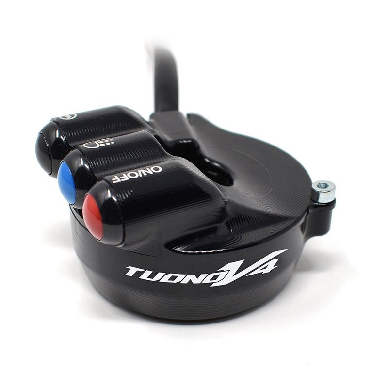 Throttle twist grip with integrated controls for Aprilia Tuono V4