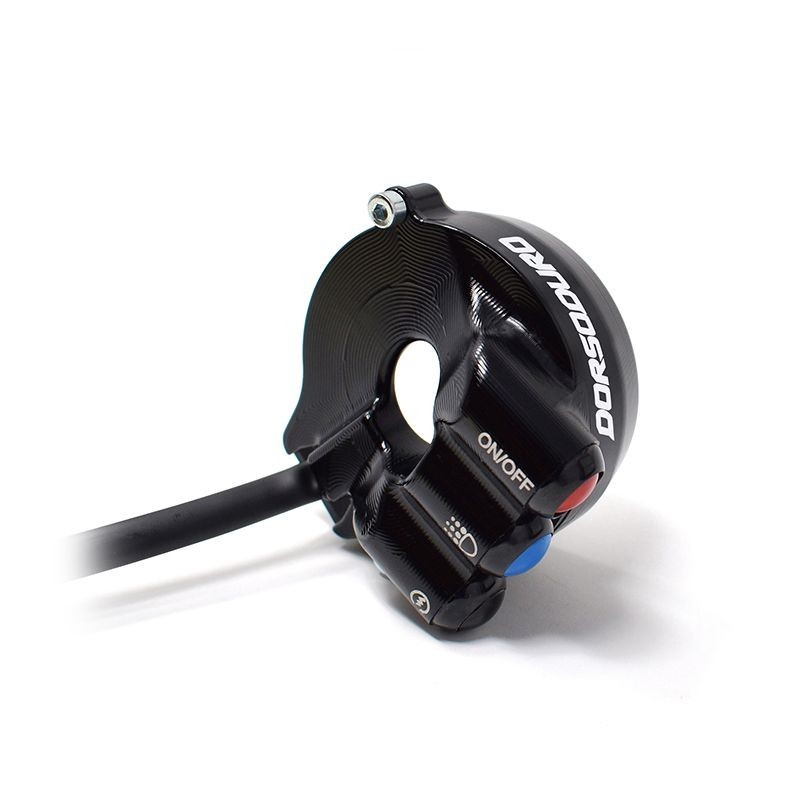 Throttle twist grip with integrated controls for Aprilia Dorsoduro