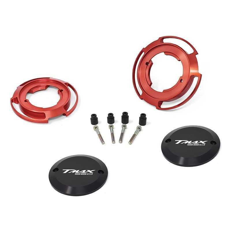 Protezioni carter colore rosso per Yamaha T-Max 560 (coppia)