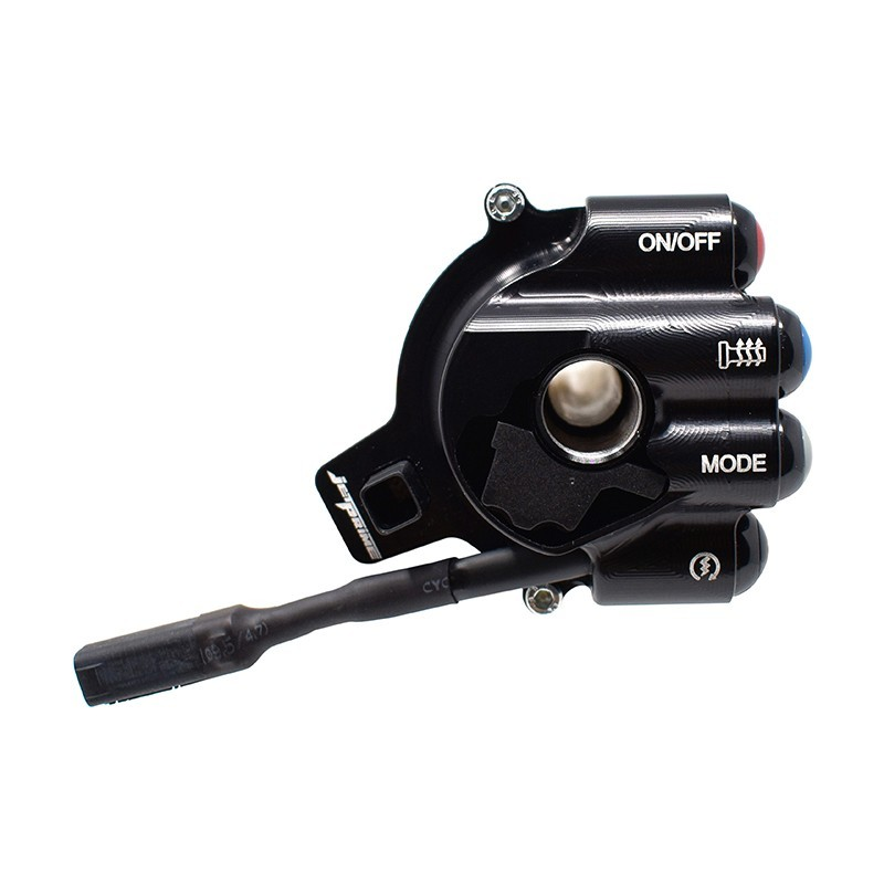 Throttle twist grip with integrated controls for BMW S 1000 R/XR