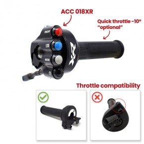 Throttle twist grip with integrated controls for BMW XR