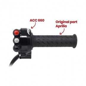 Comando gas con pulsantiera integrata per Aprilia RS 660