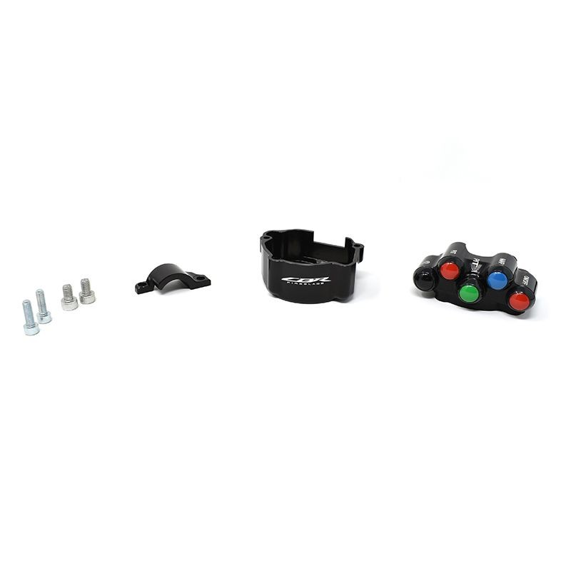 Throttle twist grip with integrated controls for Honda CBR 1000 RR-R