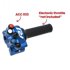 Throttle twist grip with integrated controls for Yamaha YZF-R1 (Blue)