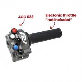 Comando gas con pulsantiera integrata per Yamaha YZF-R1 (Titanio)