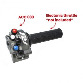Throttle twist grip with integrated controls for Yamaha YZF-R1 (Titanium)