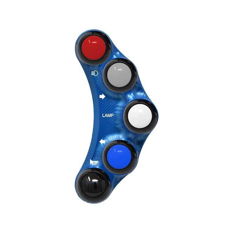 Street version left handlebar switch for Yamaha T-MAX 500 (Blue)