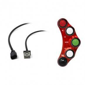Street version left handlebar switch for Honda CBR 1000 RR (Red)