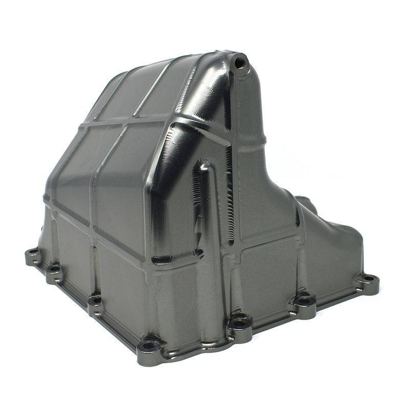 Enlarged aluminium oil pan for BMW