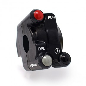 Throttle twist grip with integrated controls for Ducati Panigale V4/S